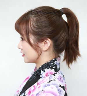毛たぼ(盛リ髪用)のつけ方1