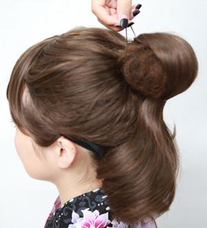 毛たぼ(盛リ髪用)のつけ方3