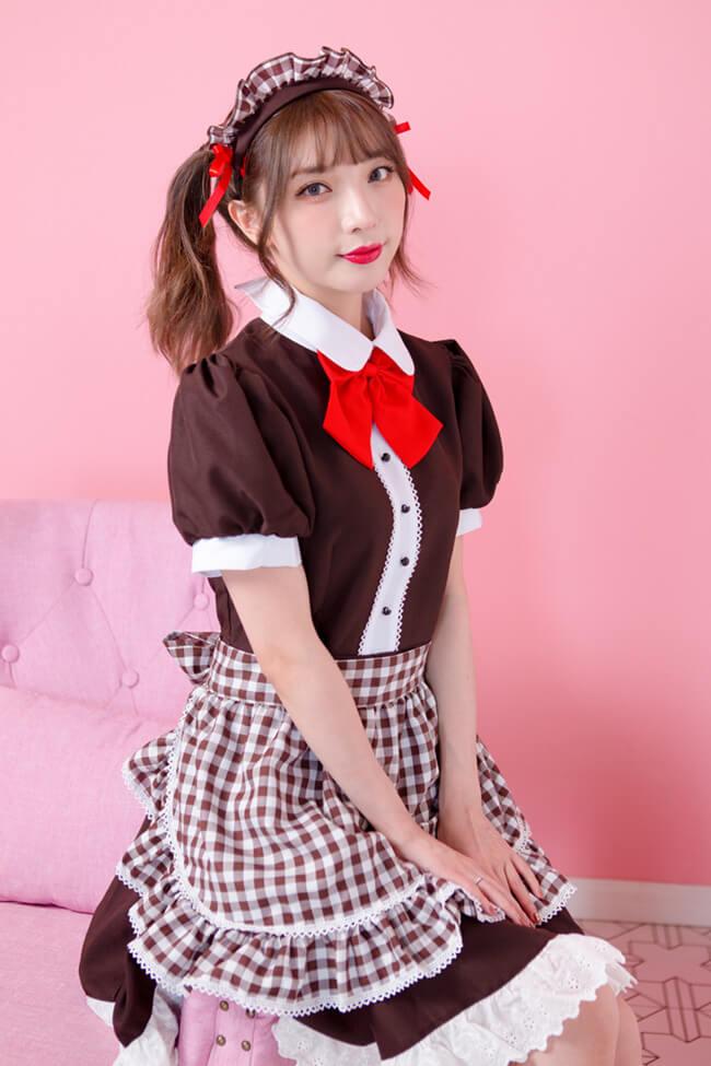 メイド服ギンガムチェック(コスチューム) 19003 商品詳細1