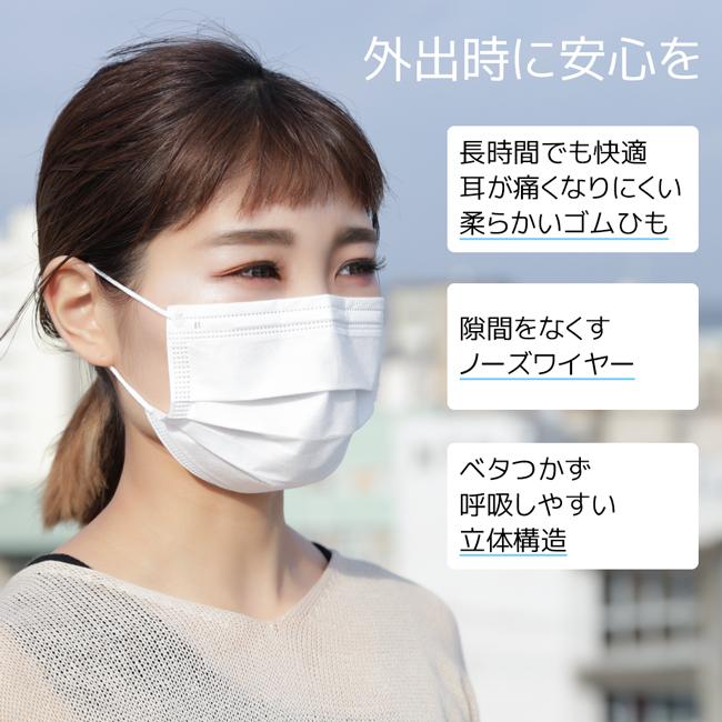 使い捨て不織布マスク 100枚 商品詳細4