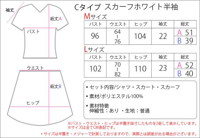 制服・セーラー服(コスチューム) ptc17263w Cタイプ スカーフホワイト半袖